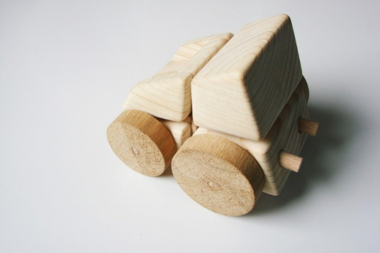 Toy from a single wooden cube