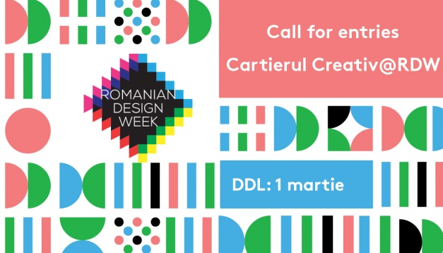 CALL FOR EVENTS: CARTIERUL CREATIV @RDW 2019