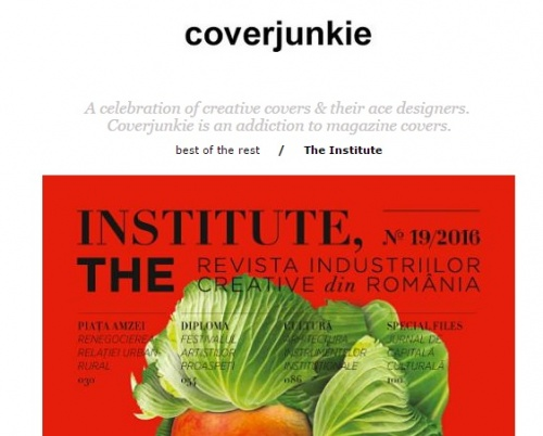 Coperta Institute, The Magazine pe coverjunkie.com