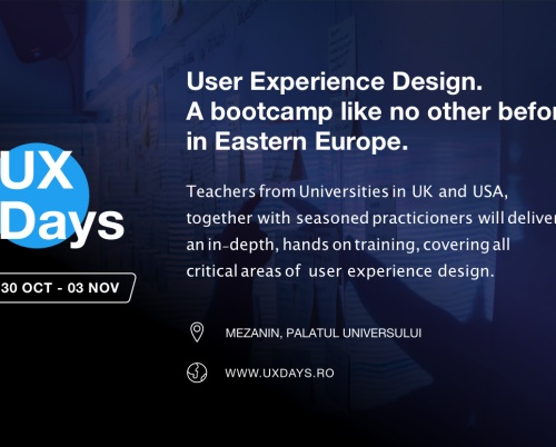 UX Days: primul boot camp intensiv de User Experience Design din România
