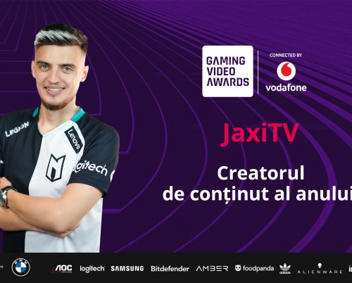 Jaxi este creatorul de conținut al anului la Gaming Video Awards